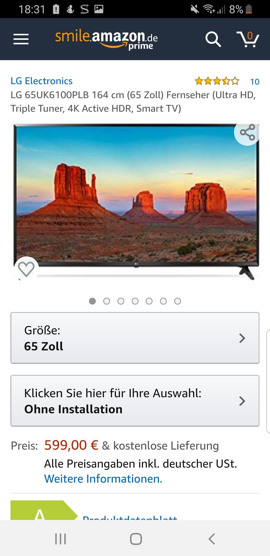 LG 65UK6100 65 Zoll UHD 4K TV