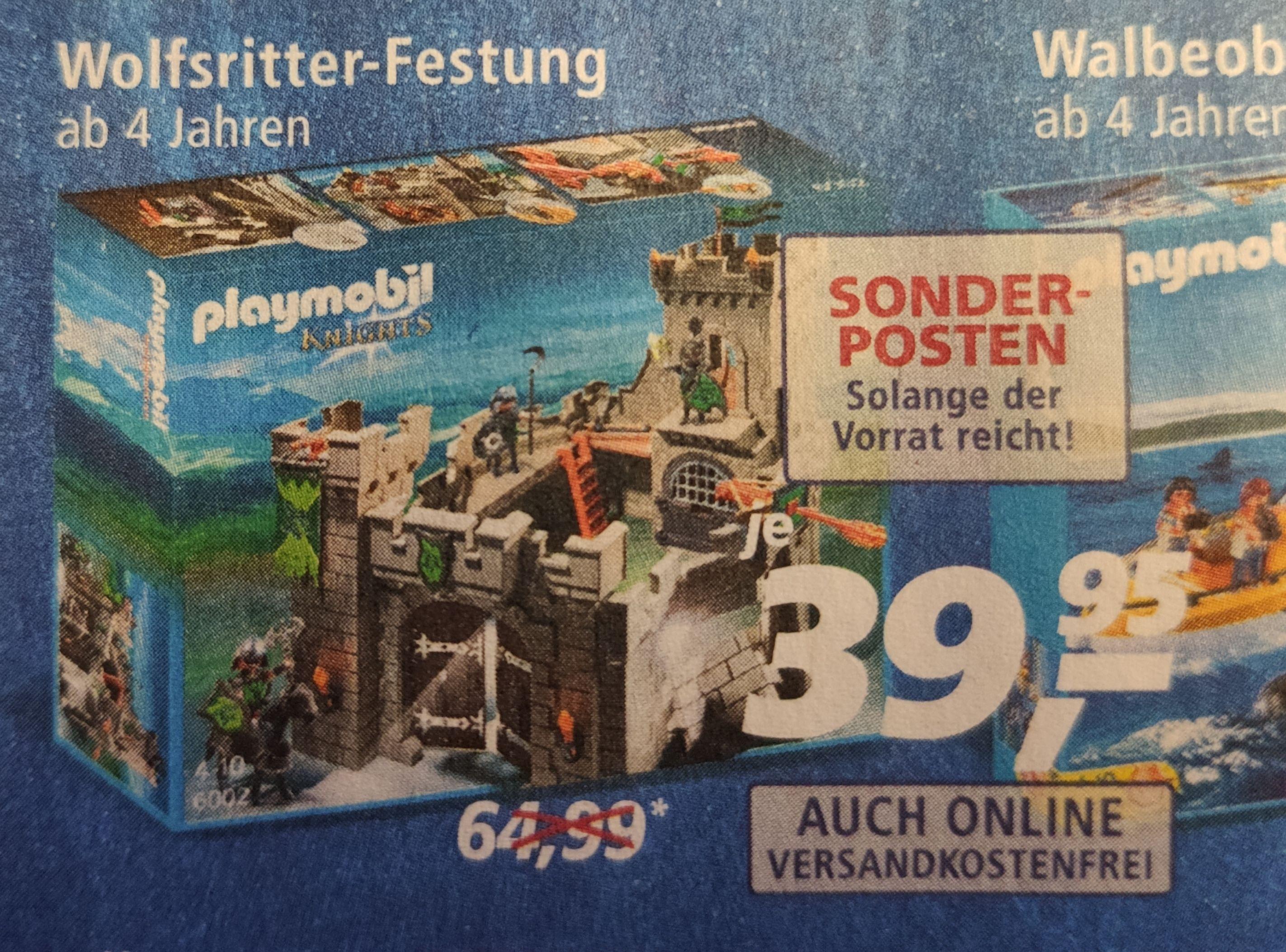 Playmobil Wolfsritter-Festung (6002) bei real,-