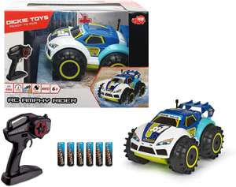 Dickie Toys-RC Amphy Rider,ferngesteuertes Amphibien-Fahrzeug,2-Kanal-Funksteuerung,Allradantrieb,360-Grad-Drehung 20 cm für 15,99€ (Müller)