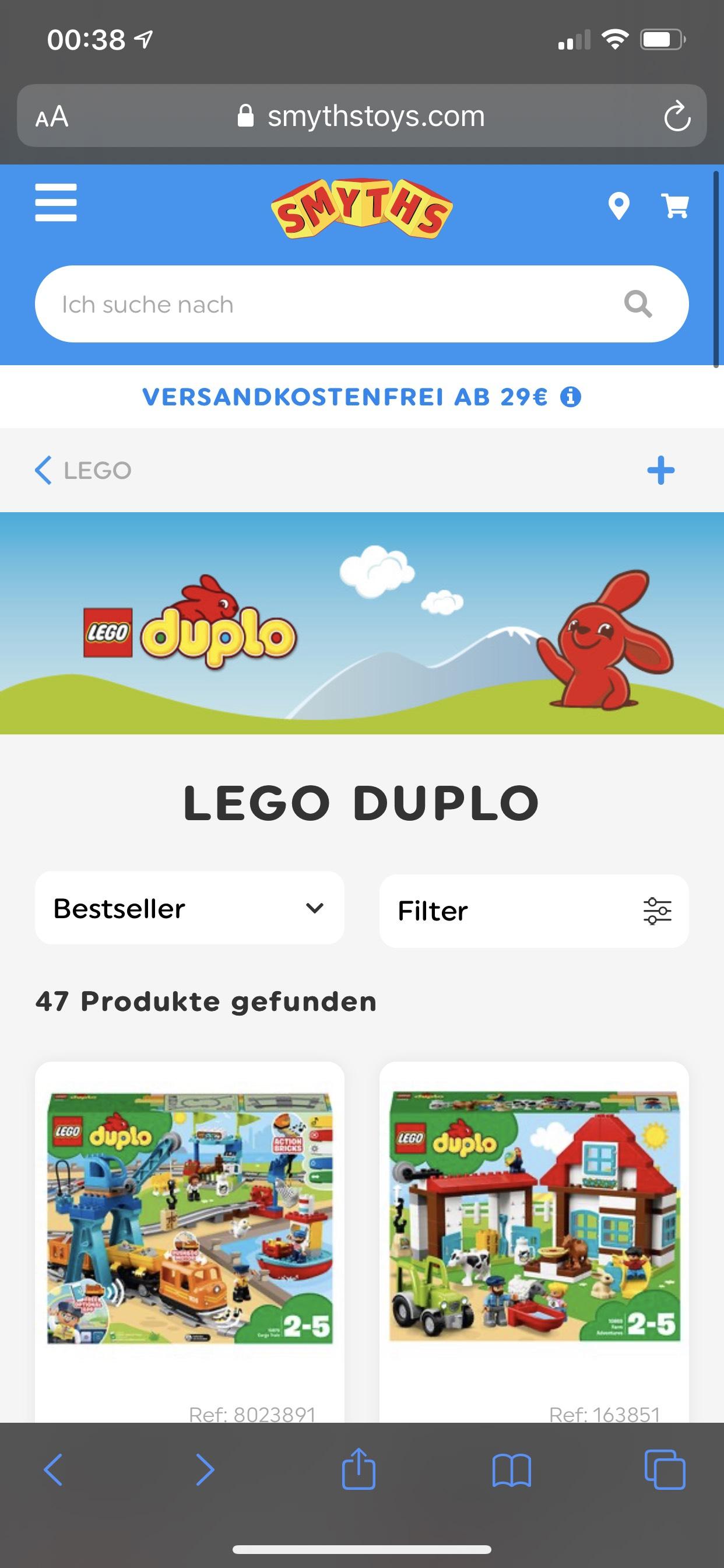 Bis 30% Rabatt auf Lego Duplo bei SMYTHS