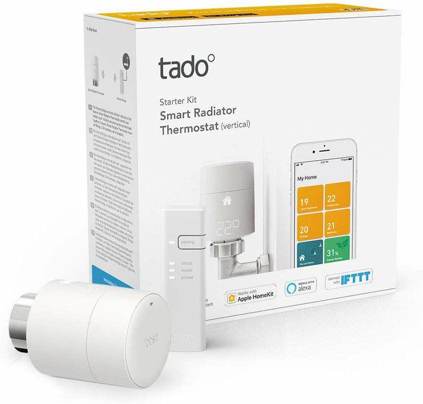 Tado Smartes Heizkörper-Thermostat Starter Kit V3+ (Intelligente Heizungssteuerung, Alexa, Apple HomeKit, Google Assistant, IFTTT)