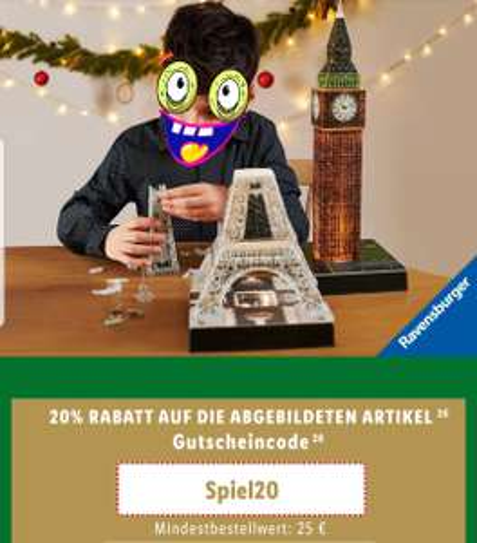 LIDL Online 20% auf Ravensburger Produkte