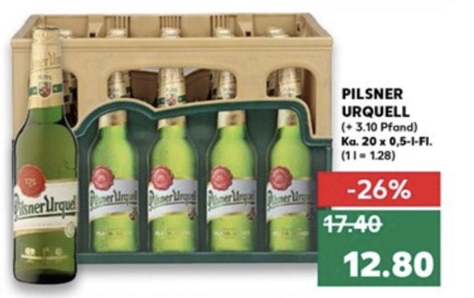 [Kaufland] Pilsner Urquell 20x0,5l für 12.80€   Radeberger 24x0,33 für 10.80   Paulaner Hefeweizen 12.00€ zzgl. Pfand ab 12.12.19 (Lokal)