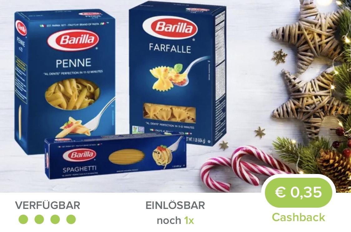 Marktguru Barilla Cashback 0,35 €