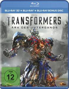 Transformers: Ära des Untergangs 3D (Blu-ray 3D + Blu-ray + Bonus Blu-ray) für 4,99€ (Müller)