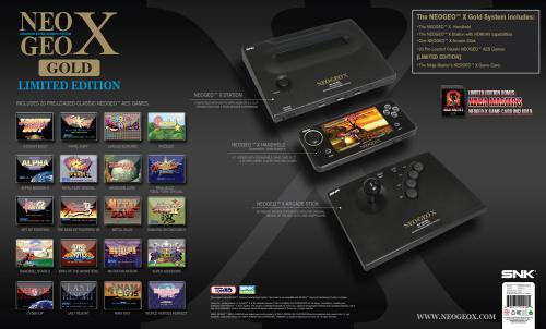 NEOGEO X GOLD Limited Edition mit 20 Spielen