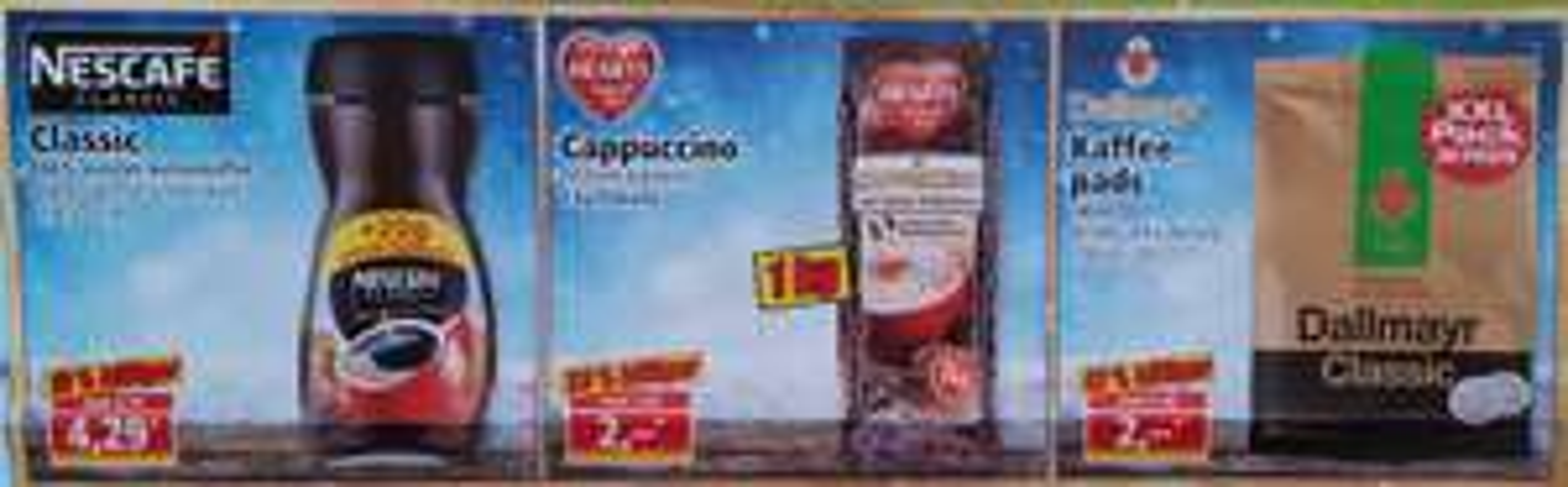 [Norma Neueröffnung] Dallmayr Pads 2€; Hearts Cappuccino 1kg für 2€; Nescafe Classic löslich 4,29€