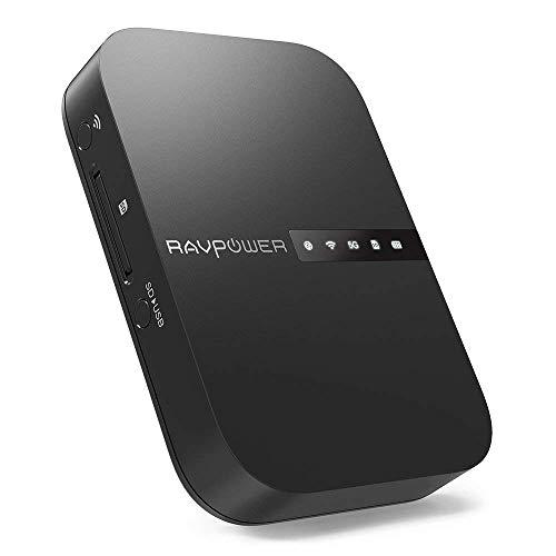 RAVPower Filehub RP-WD009 Router (WLAN-Router/Bridge, Powerbank mit 6700 mAh, kabellose Backups, DLNA-Server)