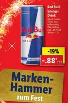 Red Bull, die Dose für 88 Cent - Pepsi / 7UP, die 1,5 Liter-Flasche für 44 Cent - Valensina, die 1 Liter-Flasche für 88Cent [Lidl]