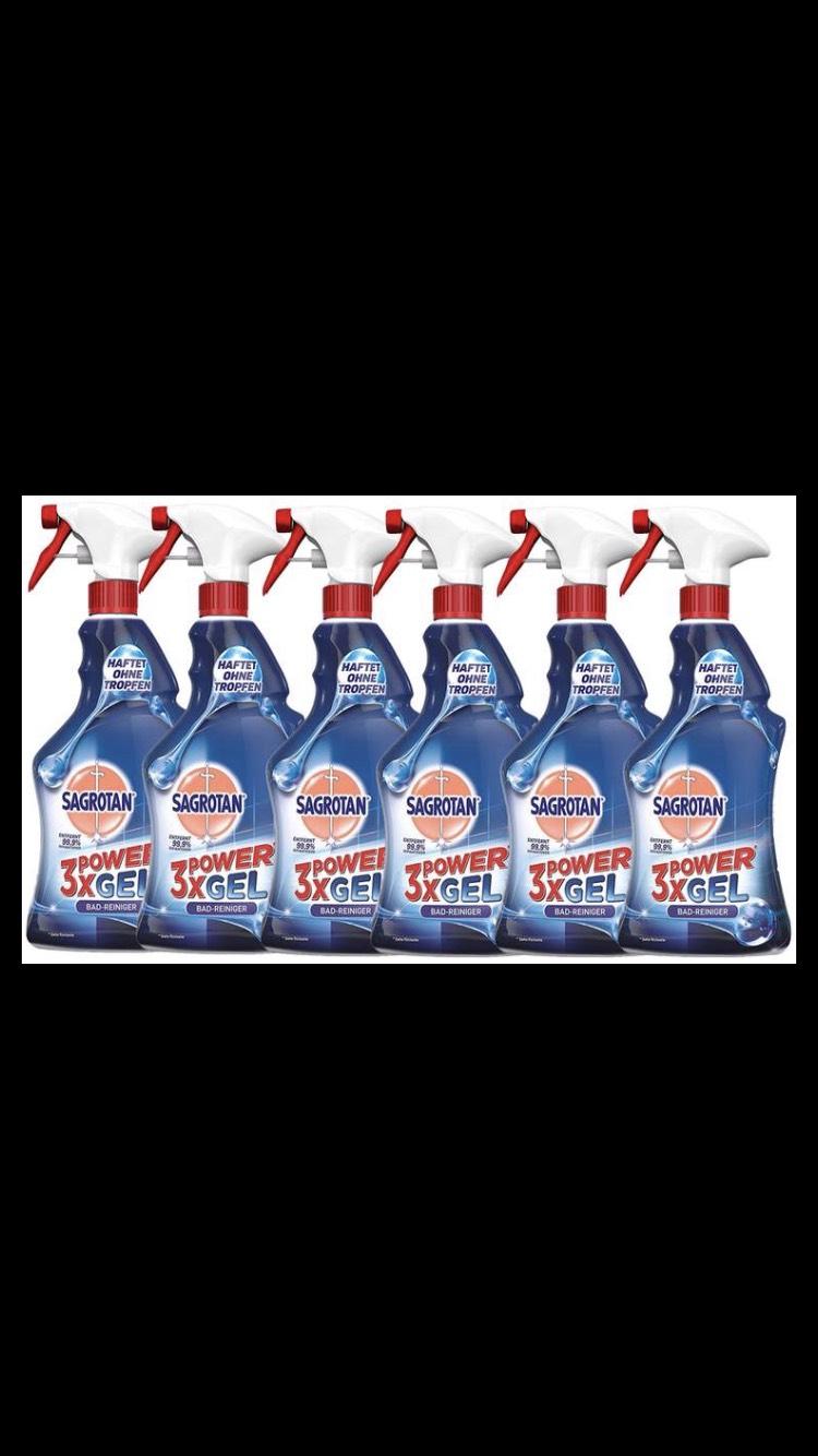 6 Flaschen Sagrotan 3 x Powergel Badezimmer Reinigungsspray