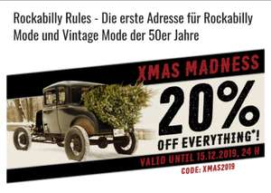 [Rockabilly Rules] 20% auf (fast) alles