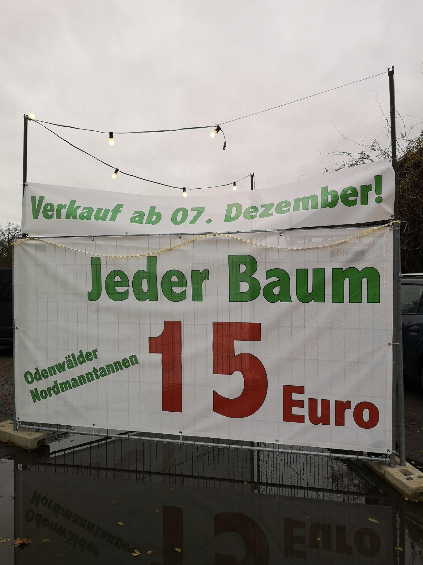 [LOKAL] Aschaffenburg - Weihnachtsbäume Nordmanntannen aus dem Odenwald alle Größen (ca. 1,5 m - 2,5 m) wieder für 15€ verfügbar