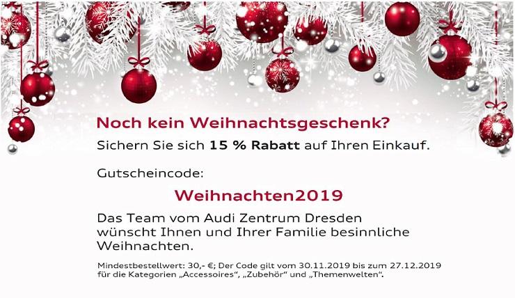 15% Rabatt auf den Einkauf im Audishop Dresden ( nur gewisse Kategorien )