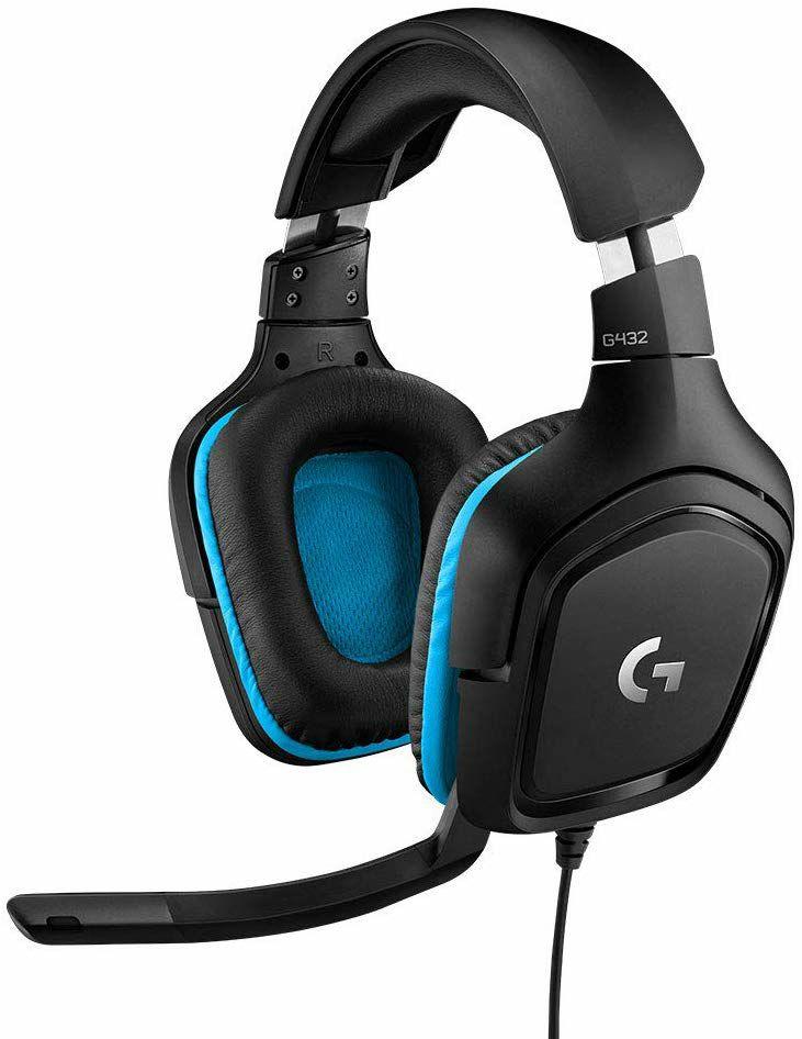 Logitech G432 Gaming-Kopfhörer - 7.1 Surround Sound, 50 mm Klangtreiber, DTS Headphone:X 2.0, Mikrofon mit Flip-Stummschalter (Amazon UK)