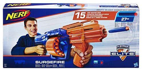 Hasbro E0011EU4 - N-Strike Elite Surgefire Spielzeugblaster, mit Trommelmagazin [Amazon Prime]