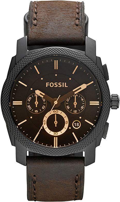 Fossil Herren Chronograph Quarz Uhr mit Leder Armband FS4656 [Amazon]