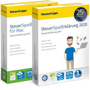 Steuersparerklärung 2020 (für die Steuererklärung 2019), Windows oder Mac, zum Download