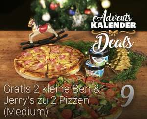 [Dominos] Gratis 2 kleine Ben&Jerrys zu 2 Pizzen (Medium)