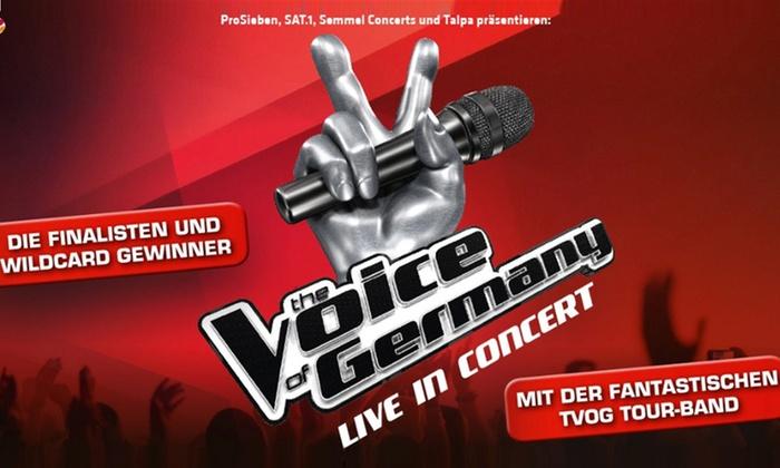 """The Voice of Germany"" Live in Concert am 27.12. in der frankenstolz arena in Aschaffenburg"