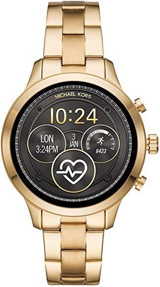 Michael Kors Damen-Smartwatch mit Edelstahl Armband MKT5045 [Amazon]