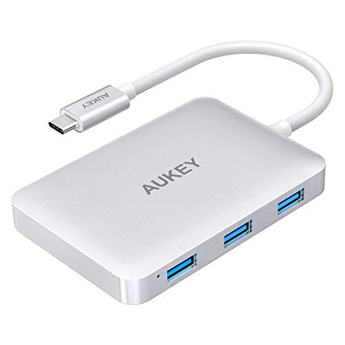 AUKEY USB C Hub (6 in 1) HDMI Port 4K, 4x USB 3.0 Ports und 100W USB C Ladeanschluss (Power Delivery) für 17,99€ [Amazon]