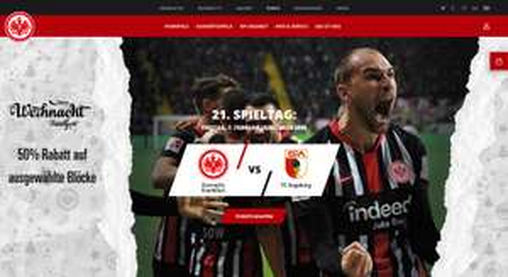 SGE Eintracht Frankfurt vs. FC Augsburg - Bundesliga Fr. 07.02.2020 - Ticket