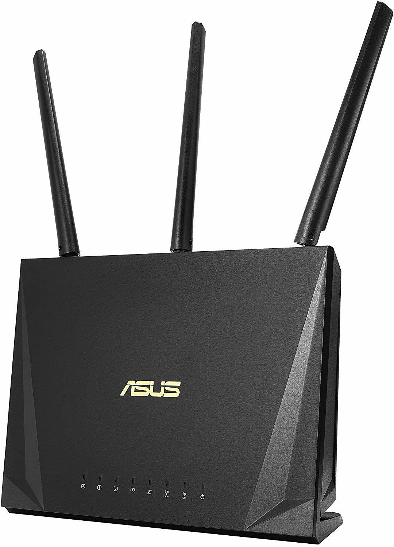 Asus RT-AC85P Router (WiFi 5 AC2400 MU-MIMO, 4x Gigabit LAN, App Steuerung, DFS, Multifunktion USB 3.1, IPv6, VPN)