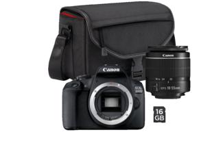 Canon Eos 2000D +Objektiv 18-55mm Speicherkarte 16GB Tasche für 222€