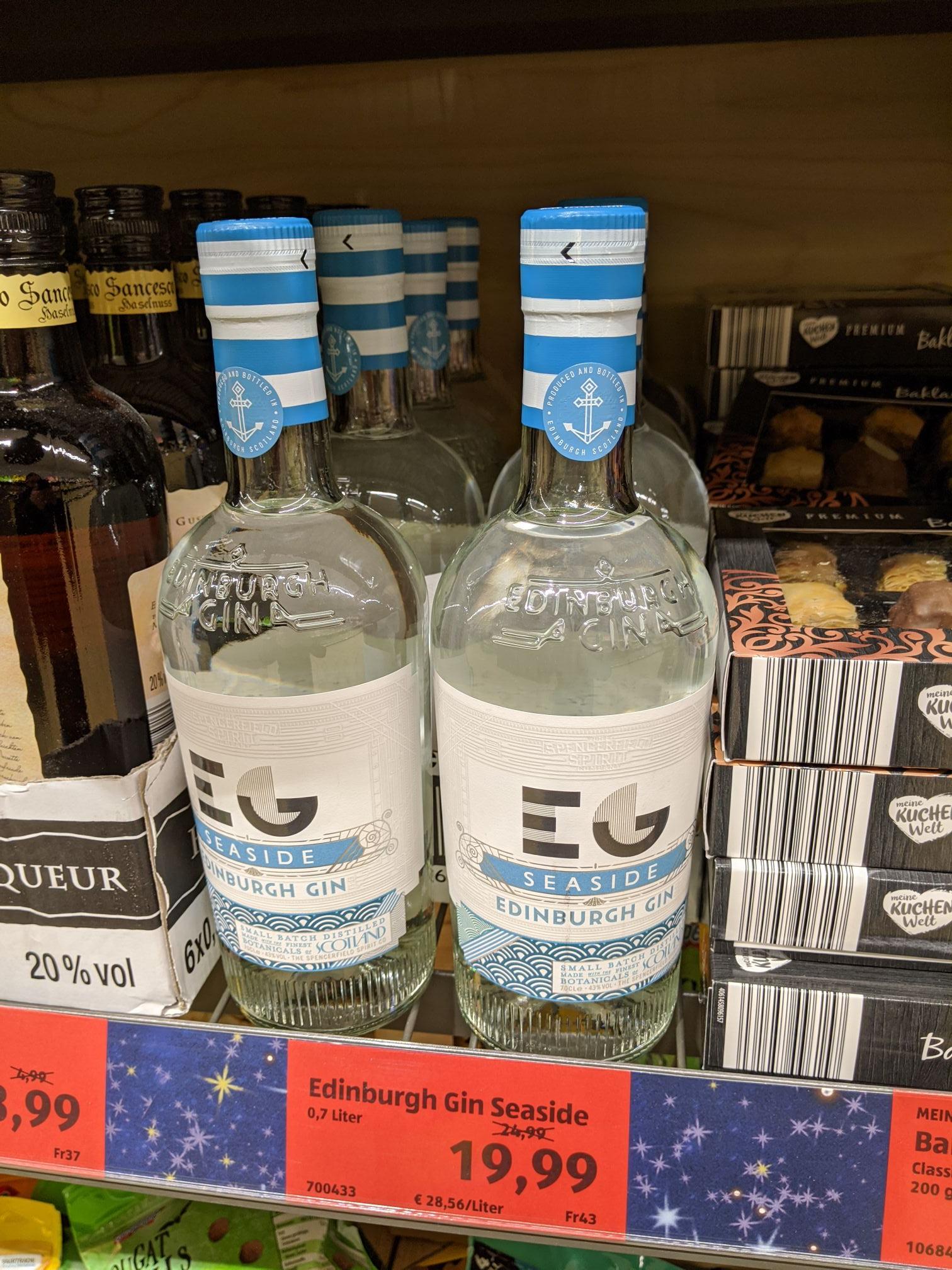[Lokal Aldi Süd] Edinburgh Gin Seaside 19,99 €