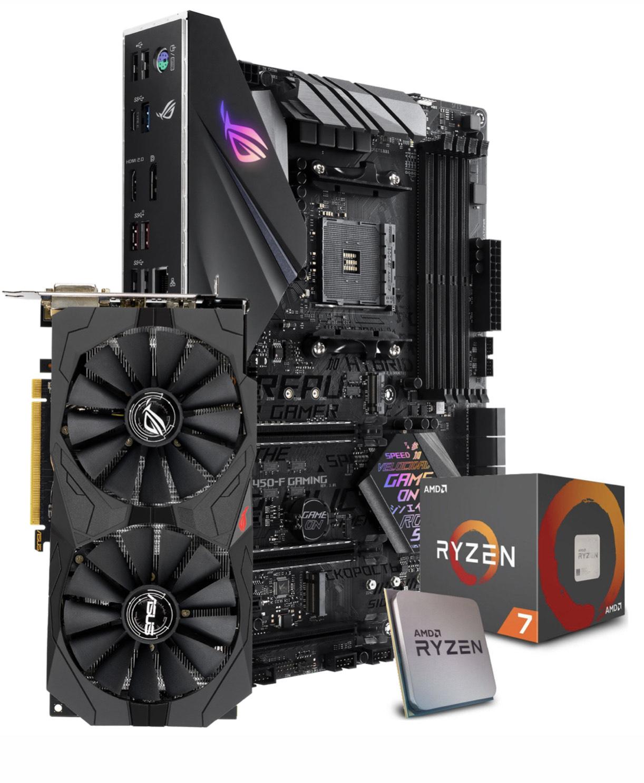 ROG STRIX B450 F-Gaming / ROG STRIX RX 570 8GB / AMD Ryzen 7 2700X