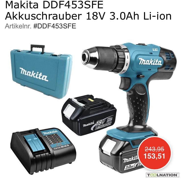 Makita DDF453SFE Akkuschrauber 18V 3.0Ah Li-ion