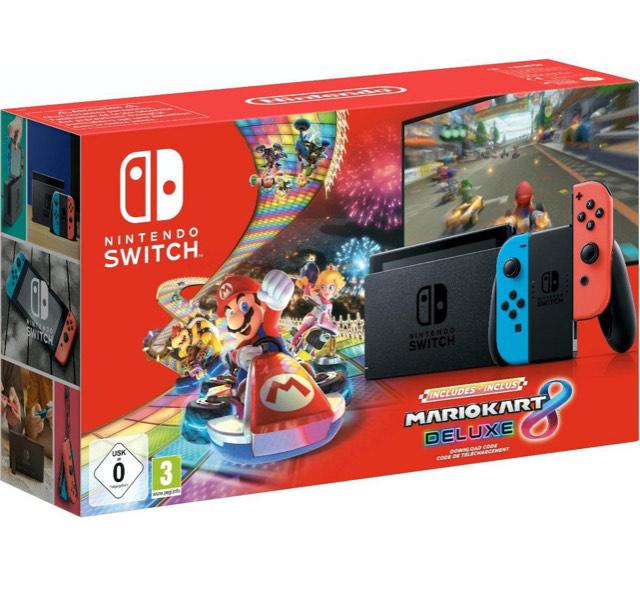 Nintendo Switch Neon (neue Version) inkl. Mario Kart 8 Deluxe als Download (bei Otto) + 10€ Cashback über Shoop