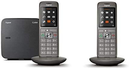 Gigaset CL660 Duo - Schnurlostelefon - 2 Mobilteile - Anthrazit grau [Amazon.fr]