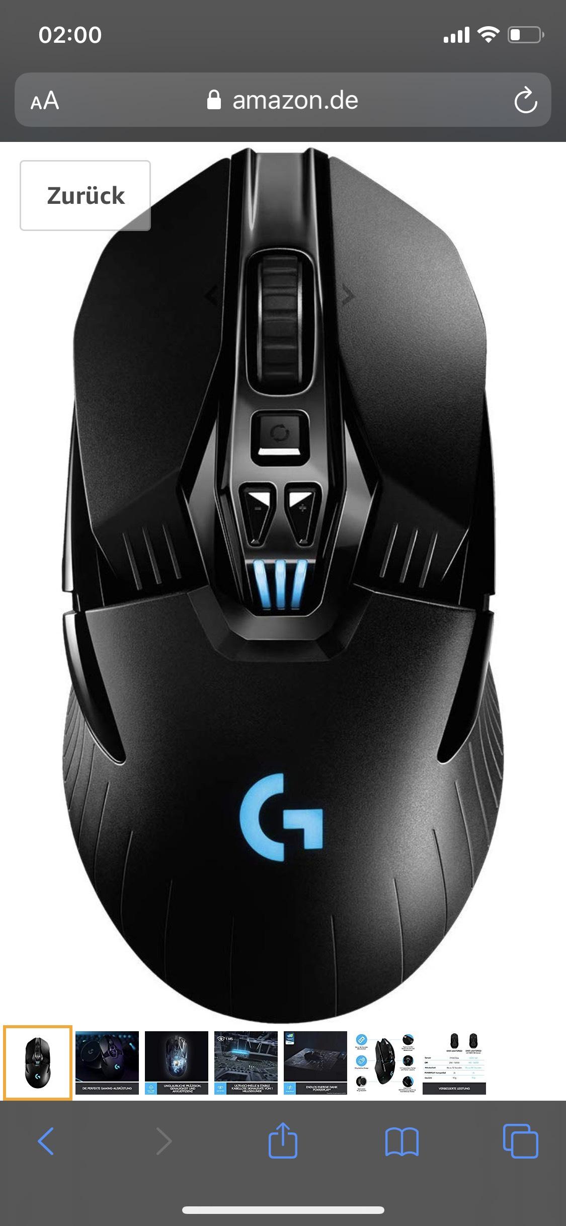 Logitech G903 Hero Kabellose Gaiming Maus
