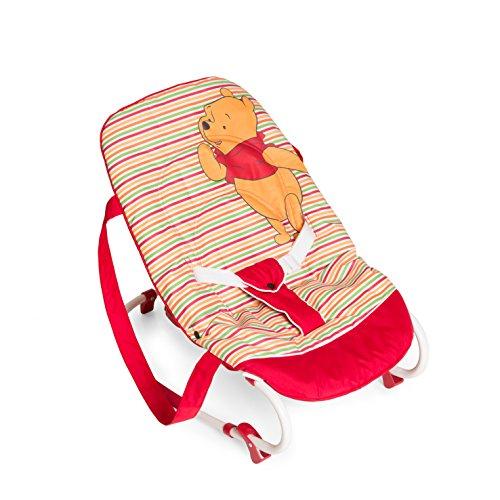 Hauck Babywippe Pooh Schaukelfunktion / verstellbare Rückenlehne, Sicherheitsgurt / ab Geburt bis 9 kg verwendbar / kippsicher und tragbar