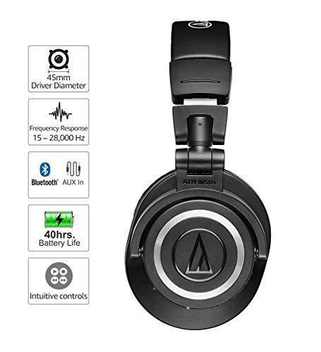 Audio-Technica ATH-M50xBT kabelloser Kopfhörer, Bluetooth-Version 5.0