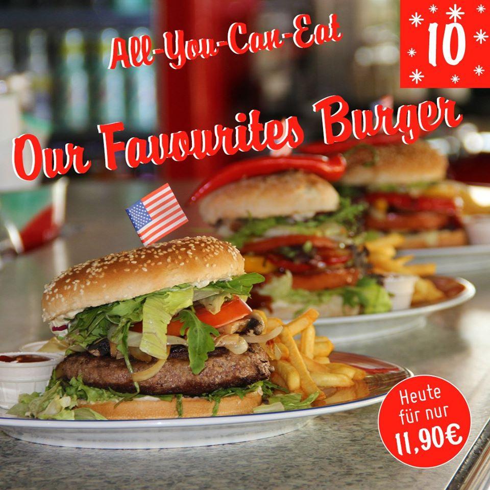 NUR HEUTE ! Miss Pepper Restaurants - All you Can Eat Our Favorites Burgers
