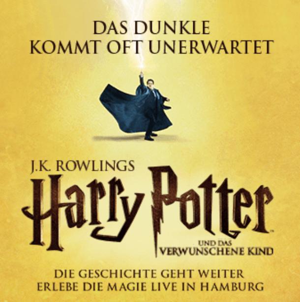 Harry Potter und das verwunschene Kind Theater in Hamburg für 2 Personen (2 Vorstellungen an 2 Tagen + Übernachtung im Premium-Hotel)