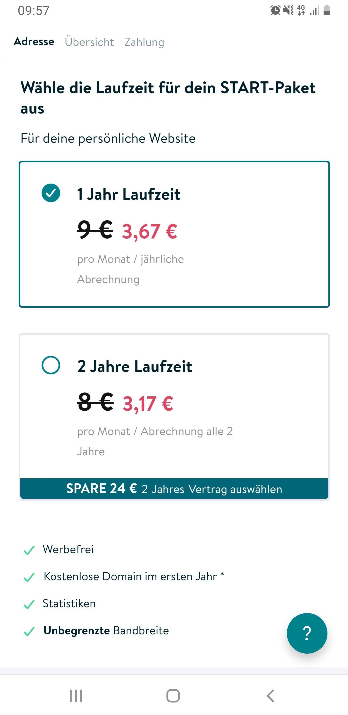 Jimdo Homepage Baukasten ein oder zwei Jahres Paket - 50%