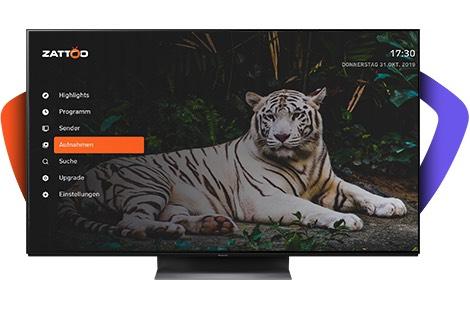 ZATTOO Ultimate 2 Monate gratis für unterstützte PANASONIC-TVs