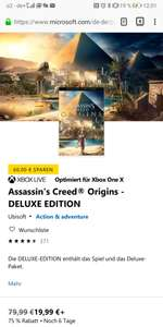 [xbox] [MS Store] Assassin's Creed Origins - Deluxe Edition