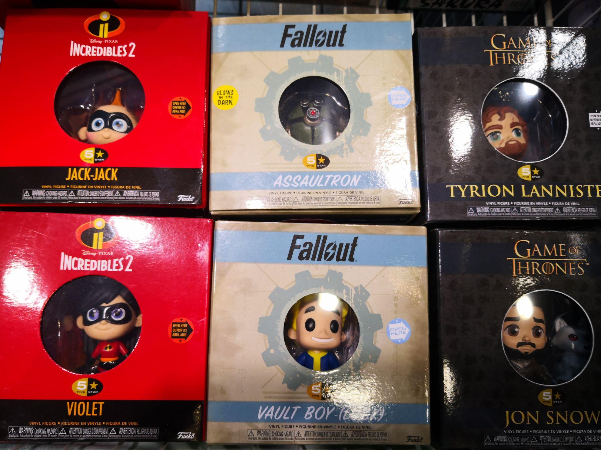 Gamestop Funko 5 STAR Figuren von Game of Thrones, Fallout, Harry Potter, Die Unglaublichen 2