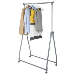 Wenko Kleiderständer, klappbar, rollbar, höhenverstellbar in silber