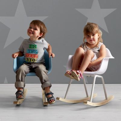 Kinderschaukelstuhl in Rosa / Blau / Weiß für 16,91€ + VSK