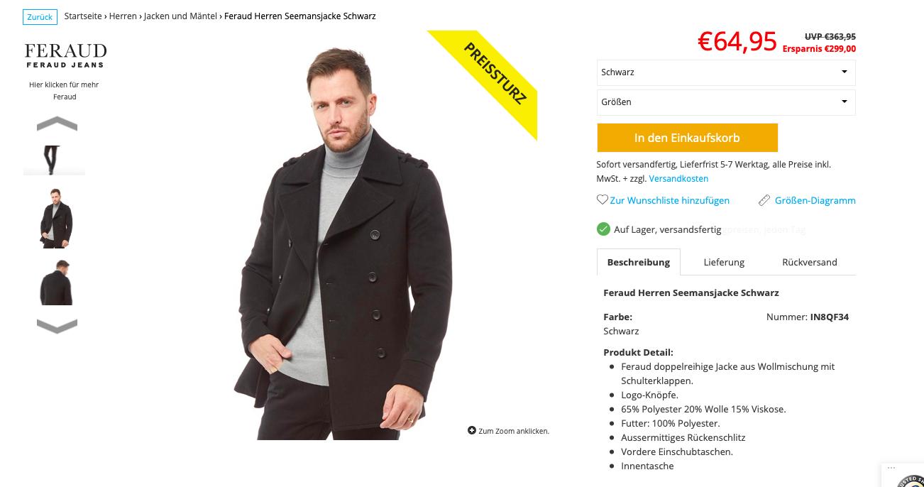 Jacken bei MandMDirect stark reduziert