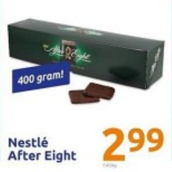 400g Nestlé After Eight (7,48€/kg)