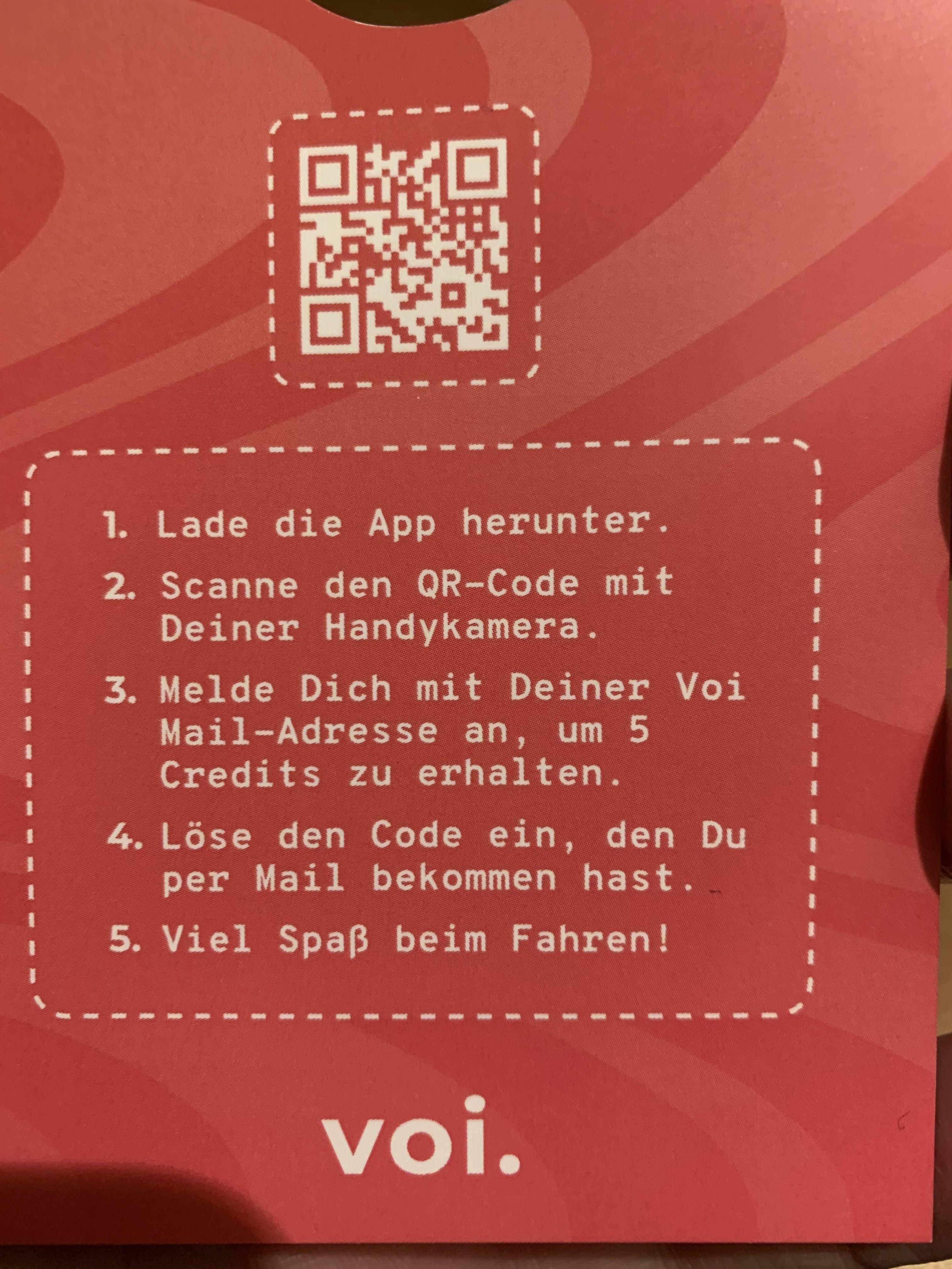 voi 5€ E-Scooter Guthaben gratis