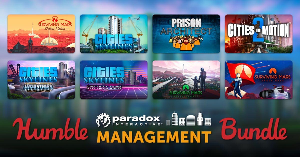 HUMBLE PARADOX MANAGEMENT BUNDLE u.a. mit Prison Architect / Cities in Motion und weiteren Games ab 0,90€ (Steam)