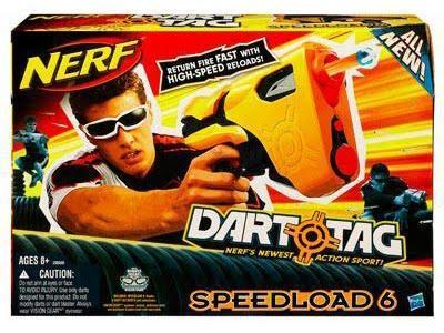 Nerf Dart Tag Speedload 6 Pistole