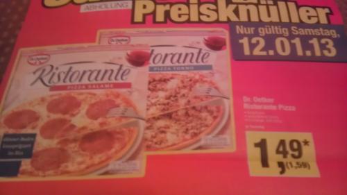 Ristorante Pizza bei Metro. Nur am 12.01.2013